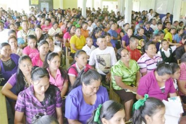 Kamarang residents at the consultation (GINA photo)
