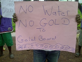 No water, no gold