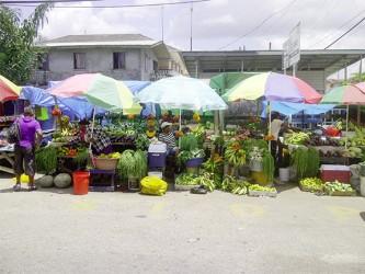 Roadside fruit and vegetable vendors