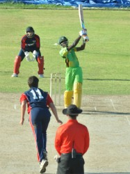 Jamaican Opener Odaine McCatty played well for his 39