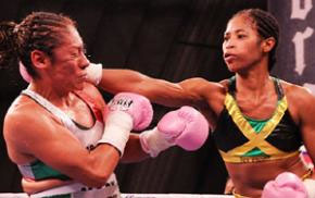Alicia Ashley (right) has had three successful title defences