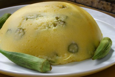 Slow food -Cornmeal Cou-cou Photo by Cynthia Nelson