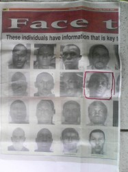 Dwayne's Estwick's photo is among persons on the police-issued wanted list, which was published in a May, 2010 edition of the Trinidad Guardian newspaper.