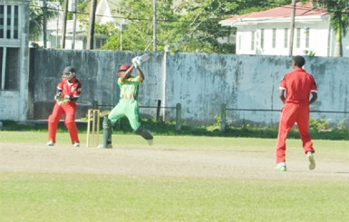 Kemo Paul Kemo Paul cuts during his half century against T&T.
