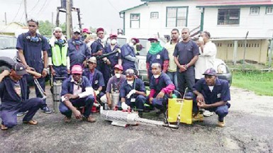 Members of the Vector Control Service unit in Region Six (GINA photo)