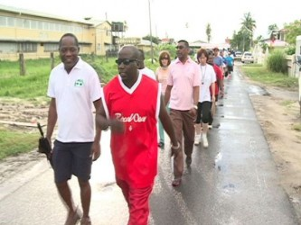 UG's Vice chancellor Dr Jacob Opadeyi (left) among the participants (GINA photo)