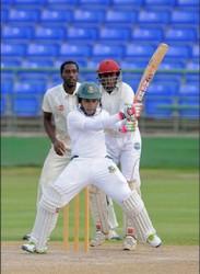 Mushfiqur Rahim was the topscorer in the Bangladesh innings yesterday. (WICB media)