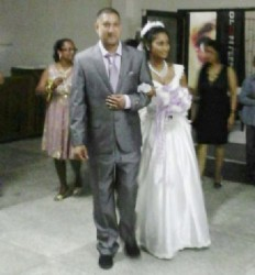 Paul David and his bride Ravina at Saturday night's reception.