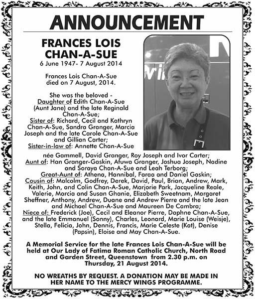 Frances Chan-A-Sue
