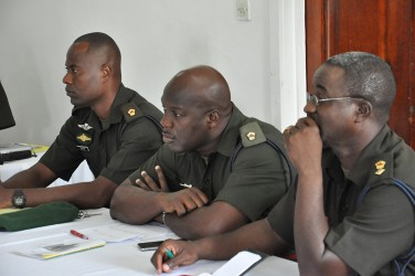 Some of the officers who were present (APNU photo)