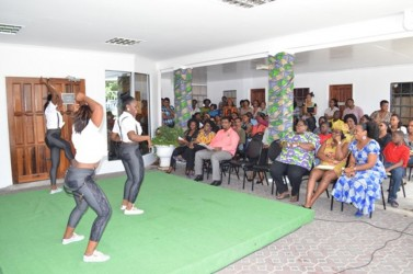 Penomenon School of Dance performing at the Ministry of Housing's Emancipation celebration on Thursday. (GINA photo)