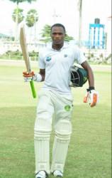 Trevon Griffith's 102 made him the third Demerara batsman to score a century in this match. (Orlando Charles photo)
