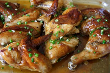 Oyster sauce chicken (Photo by Cynthia Nelson)