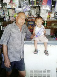 Jailall Tahall and his grandson