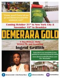 The Demerara Gold flyer announcing upcoming performances
