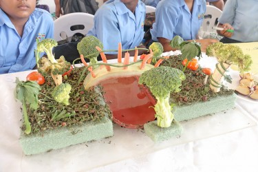 Broccoli rain forest by first form student Laurianne Lewis.
