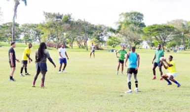The national rugby team in practice recently.
