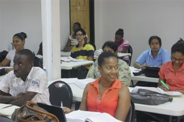 An MBA  class in session