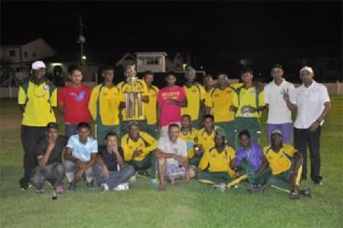 Victorious Regal display their trophies