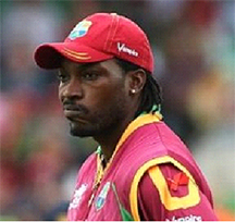 Chris Gayle ... to suit up for Lions despite injury.