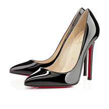 Christian Louboutin's black patent Pigalle