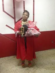 Sharon Scott at her graduation ceremony.