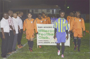 Some members of the Milerock Football team during the match past.