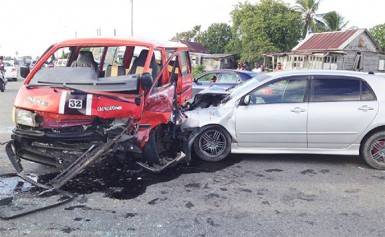 The vehicles involved in the collision