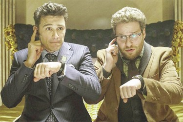 James Franco and Seth Rogen in  a scene from the movie