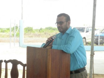 Minister of Natural Resources and the Environment, Robert Persaud during brief remarks (GINA photo)