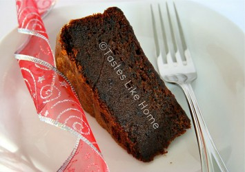 A slice of Christmas cake (Photo by Cynthia Nelson)