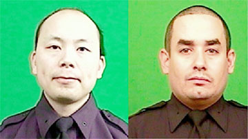 Rafael Ramos, 40, (right) and  32-year-old Wenjian Liu
