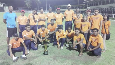 The Universal DVD Berbice Titans team following the final.