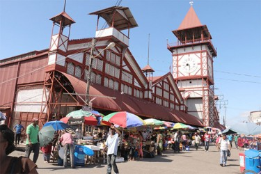 A view of the Stabroek Market