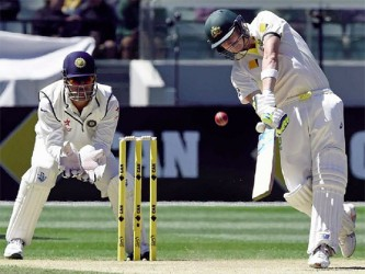 Steve Smith played a captain's knock to be unbeaten on 72 at close of play.
