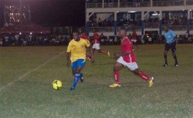 Action  in the game between Pele and Riddim Squad