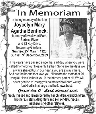 Joycelyn Mary Agatha Bentinck