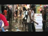 Flash flood swamps Christmas shoppers