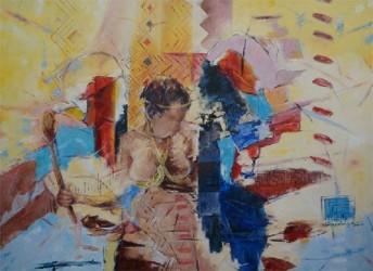 PhilbertGajadhar  Ambala  The Gardens (First Prize,Painting)