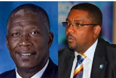 Joel Garner (left) promises a WICB shake-up if he defeats Dave Cameron