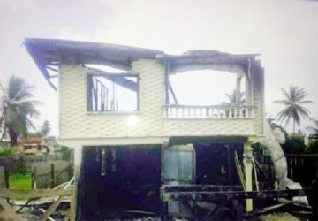 The remains of Phillip McGregor's home after Wednesday's fire