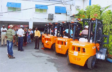The new forklifts