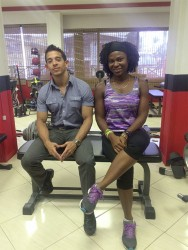 Jamie McDonald and Cross-fit Guyana's main organizer, Noshavyah King