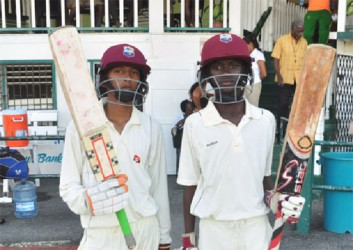 Half-centurions: Brandon Mangal (left) and Junior Sinclair (right) help set up a comprehensive win for Berbice
