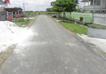 A section of the recently upgraded Third Street, Granny Field, Cane Grove.