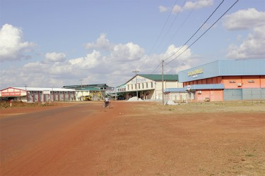 The desolate Lethem Commercial Zone two Fridays ago.