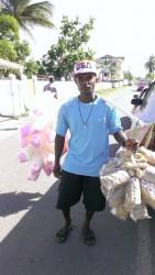 A candy vendor