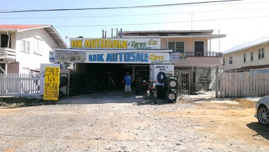 An auto spares business