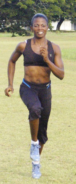 Bodybuilding and Track and Field star, Alisha Fortune.