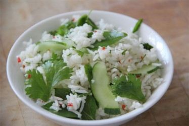Rice & herb salad (Photo by Cynthia Nelson)